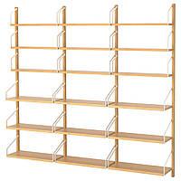 IKEA SVALNAS (291.844.33) Шкаф, установленный на стене, бамбук