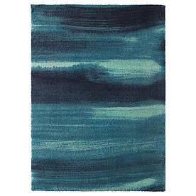 IKEA SONDEROD (003.458.46) Килим, довгий ворс, синій