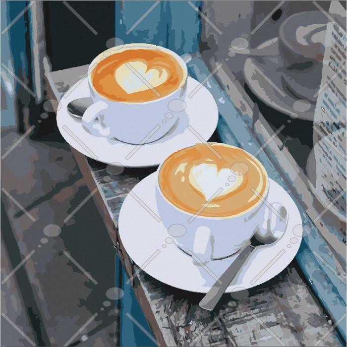 Картина по номерам Ранковий аромат любові, 40x40 см., Идейка