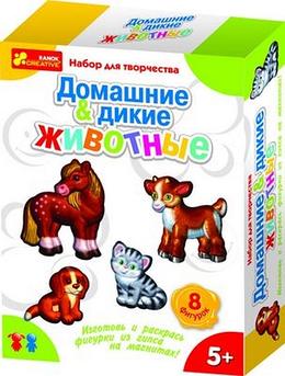 """Гипс на магнитах """"Дикие и домашние животные"""" Ранок"""