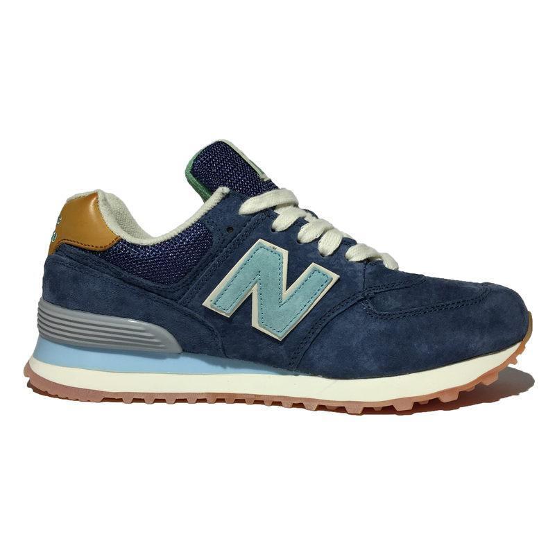 Женские кроссовки New Balance 574 синие (реплика)- купить не дорого ... fc5b5f67f9b4e