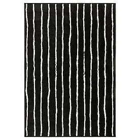 IKEA GORLOSE (503.208.48) Килим з коротким ворсом, чорний/білий