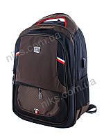Рюкзак спортивный городской с USB-портом Superbag, коричневый, фото 1