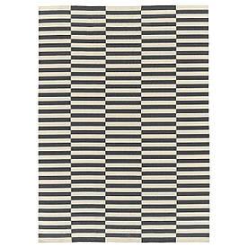 IKEA STOCKHOLM 2017 (803.452.39) тканий Килимок плоский, ручна, смугаста біла, сіра