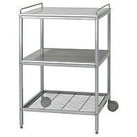 IKEA UDDEN (601.169.98) Сервировочный столик, серебро, нержавеющая сталь