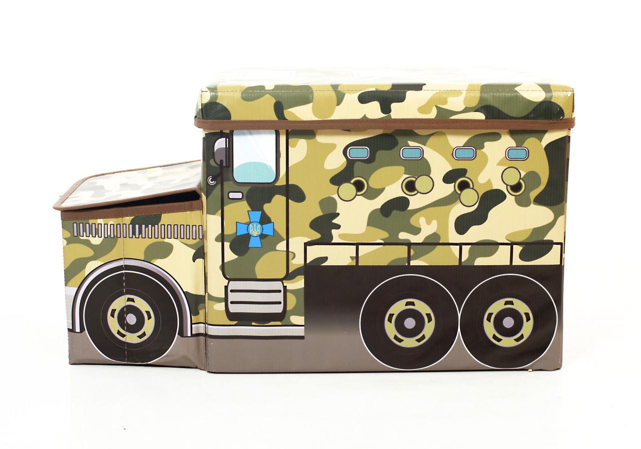 Детский пуф Автобус Военный