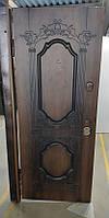 Двери входные ПВ-101 V Дуб темный Vinorit (Патина)