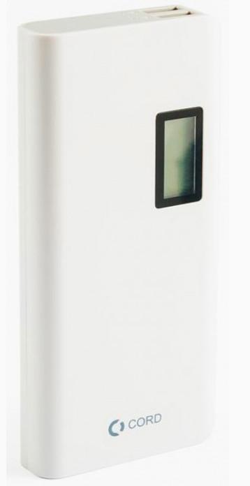 Внешний аккумулятор Power Bank Cord L-011 LCD 10000mAh White/Gray Гарантия 12 месяцев