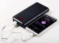 Портативное зарядное устройство Power Bank Proda 30000mAh 2USB Remax Black Гарантия 6 месяцев, фото 2