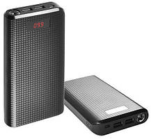 Портативное зарядное устройство Power Bank Proda 30000mAh 2USB Remax Black Гарантия 6 месяцев, фото 3
