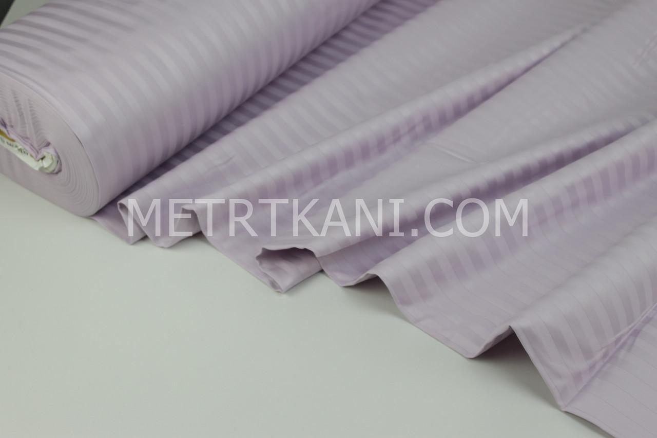 Страйп сатин лавандового цвета полоска 1*1 см  ширина 240 см № VS-16742