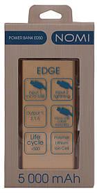 Аккумулятор внешний Power Bank Nomi E50 5000mAh Gold Гарантия 12 месяцев