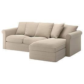 IKEA GRONLID (692.557.77) 3-местный диван, с шезлонгом, Ljungen светло-зеленый
