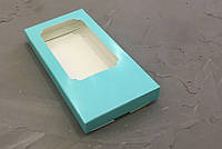 Коробка для плитки шоколада Бирюзовая