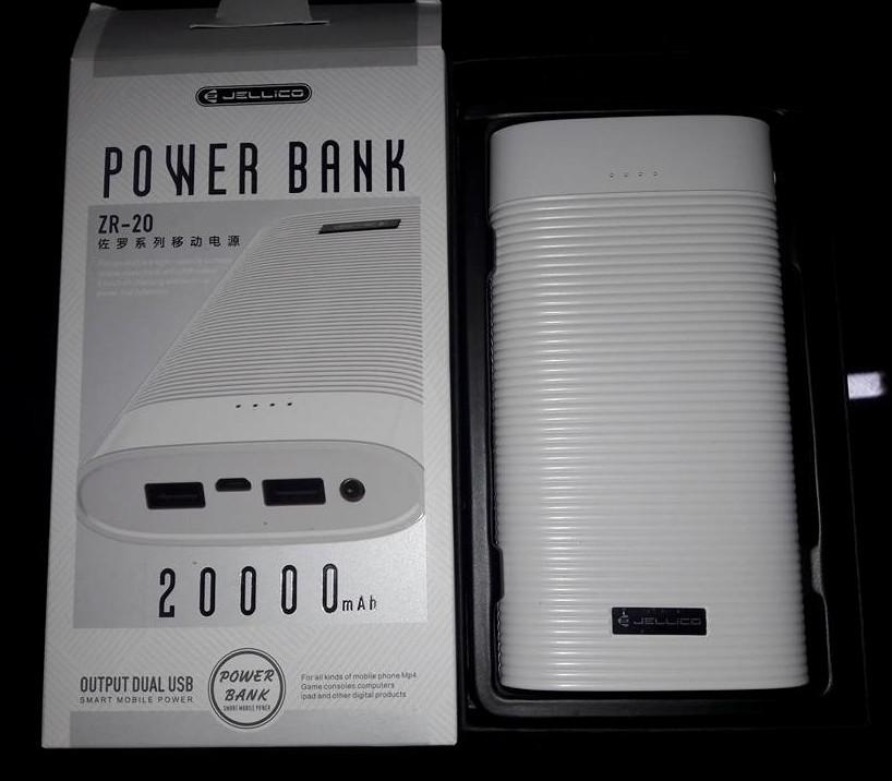 Портативное зарядное устройство Power Bank Jellico ZR-20 20000mAh White Гарантия 6 месяцев