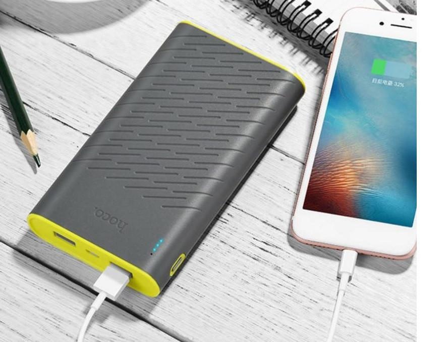 Внешний аккумулятор Power Bank Hoco B31A Rege 30000mAh Gray Гарантия 6 месяцев