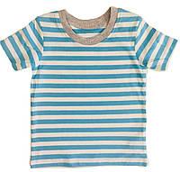 Футболка для мальчика в голубой полоску, George, 30162