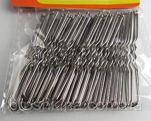 Шпильки для волосся довжина 7 см сріблясті 50 шт/уп.