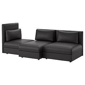 IKEA VALLENTUNA (491.494.53) 3-местный диван, Murum black