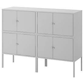 IKEA LIXHULT (292.791.86) Комбінація шаф, сірий