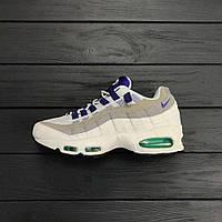 super popular a5371 d531e Кроссовки Nike Air Max 95 Premium OG - White Court Purple. Живое фото.