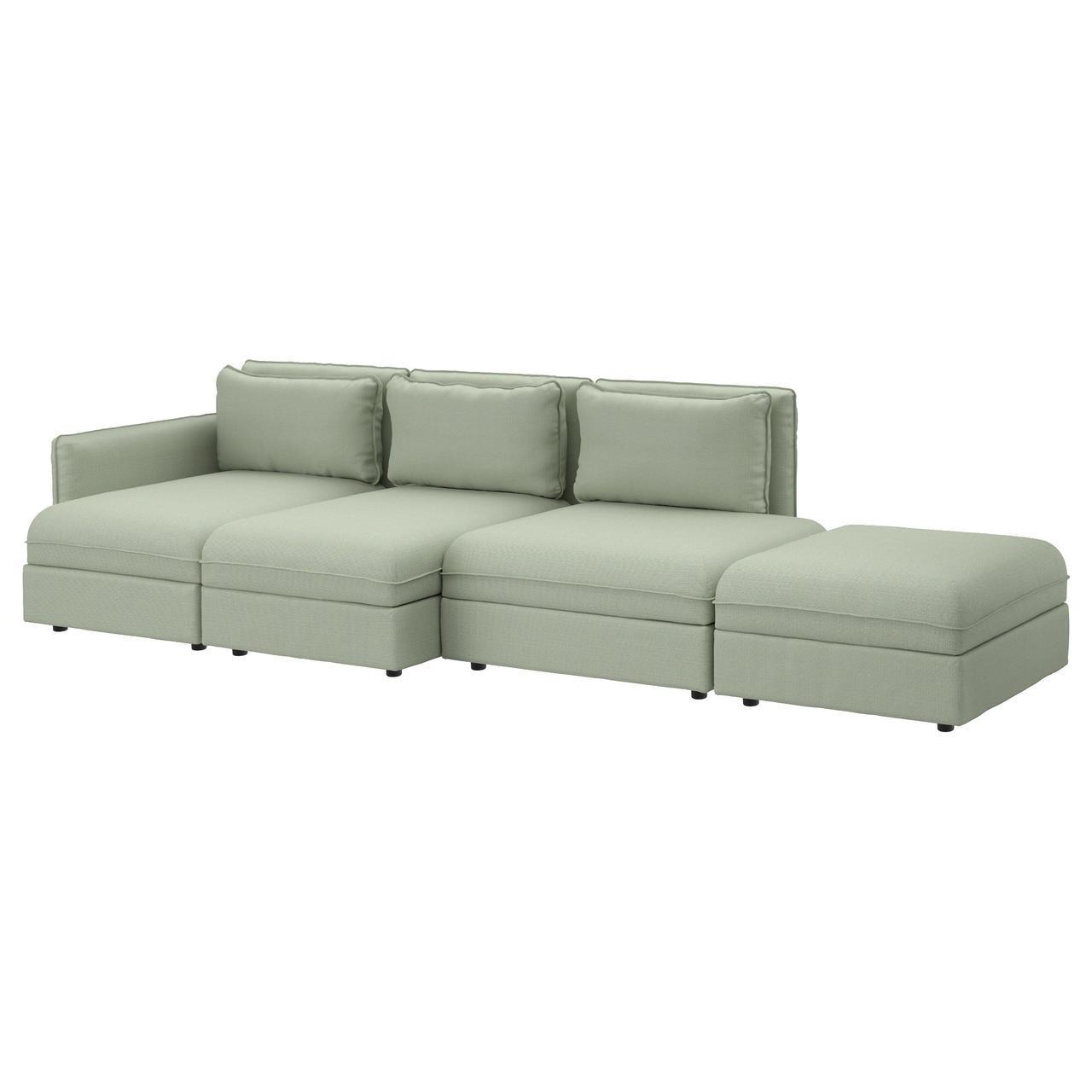 IKEA VALLENTUNA (391.497.50) Диван, 4 части, Orrsta светло-серый