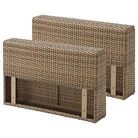 IKEA SOLLERON (103.864.50) Секція з підлокітником, садом, коричневим