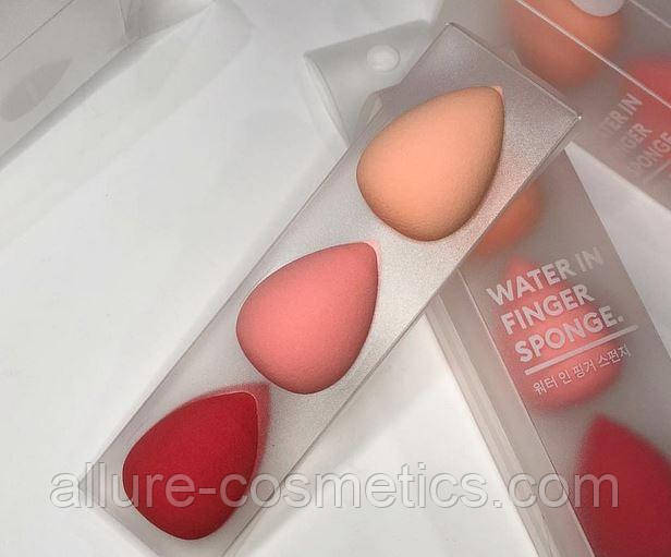 Спонж Missha Water In Finger Sponge набор из 3 штук