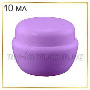 Баночка 10 мл пластикова Тіффані, фіолетова
