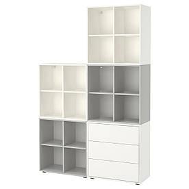 IKEA EKET (291.913.44) Комбінація шаф з ніжками білий/світло-сірий