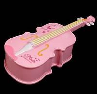 Музыкальная шкатулка Скрипка с Балериной. розовая, 28 см., фото 1