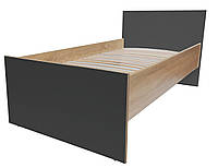 Кровать односпальная детская на ламелях серия Eco 60*140, графит