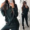 Женский ангоровый спортивный костюм. Цвет: бутылка, беж, пудра.