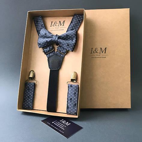 Набор I&M Craft галстук-бабочка + подтяжки для брюк (030256), фото 2