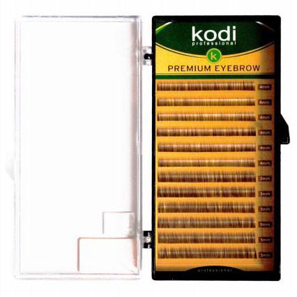Брови Straight Curl (прямой завиток) Kodi Professional 0.06 (12 рядов: 4-5) темно-коричневые