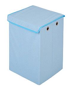 Детский ящик для игрушек Горошек, голубой