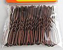 Шпильки для волос короткие 5 см коричневые 50 шт/уп., фото 2