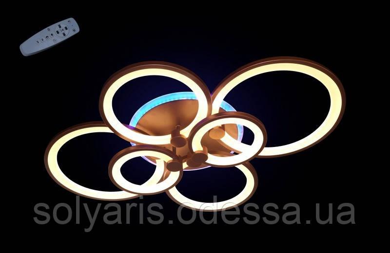 Светодиодная припотолочная люстра 1811/6 CF LED Dimmer (коричневый)