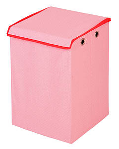 Детский ящик для игрушек Горошек, розовый