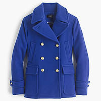 J Crew пальто Stadium Cloth Majesty Peacoat  Neon Blue by Nello Gori