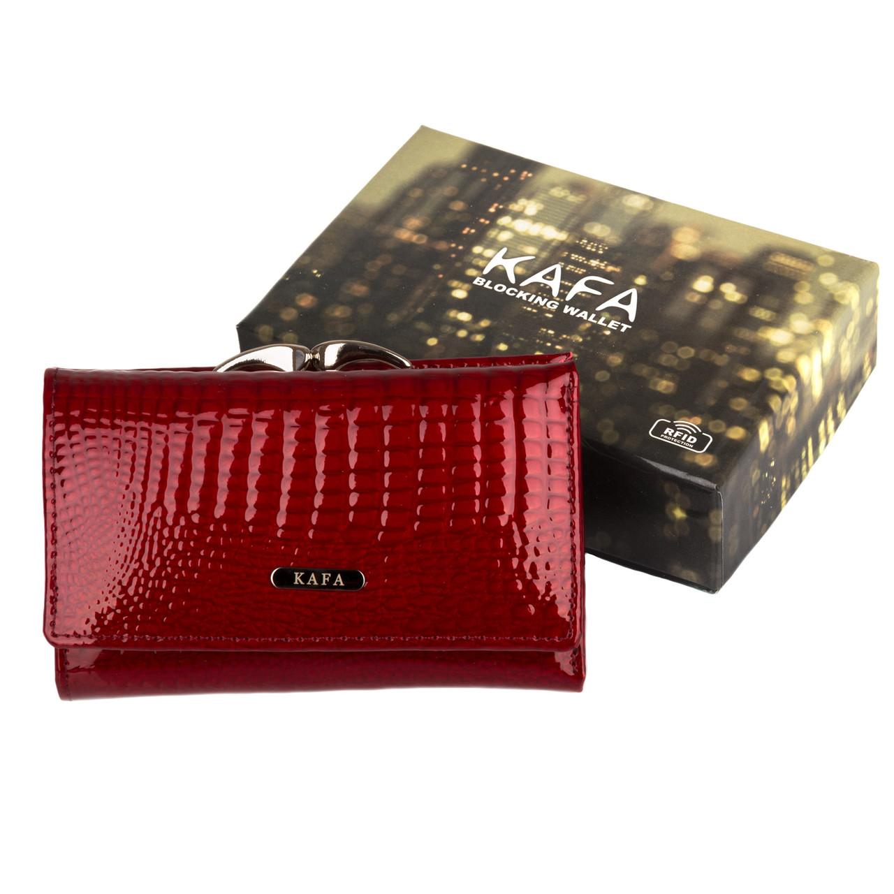 8a70621a05c8 Кошелек женский кожаный Kafa RFID AE214 красный: продажа, цена в ...