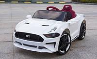 Детский электромобиль Форд Мустанг Ford Mustang GT белый (красный, синий). MP3, USB, свет, M 3632 EBLR-1