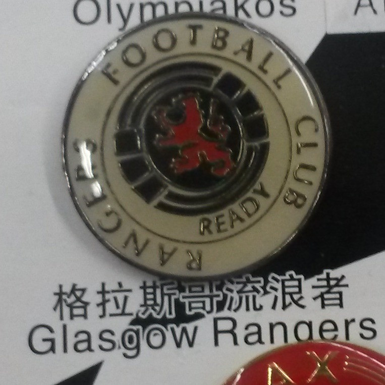 Металлический значок футбольного клуба Глазго Рейнджерс
