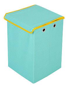 Детский ящик для игрушек Горошек, салатовый
