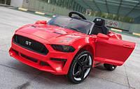 Детский электромобиль Форд Мустанг Ford Mustang GT красный (белый, синий). MP3, USB, свет, M 3632 EBLR-3