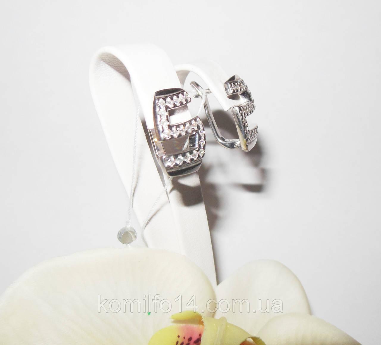 Серебряные серьги с куб.цирконием