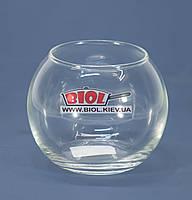Ваза аквариум 0,35л (шарообразная) стеклянная (h 8см, d 9,5см)