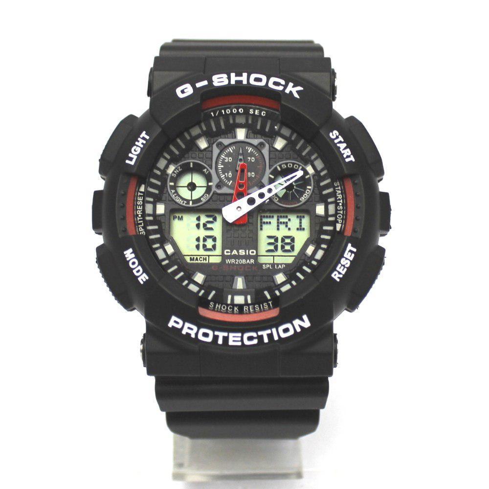Спортивные наручные часы Casio G-Shock ga-100 Black-White Касио реплика