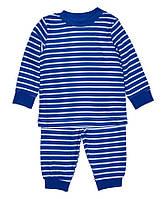 Пижама синяя в полоску для мальчика, George, 152603