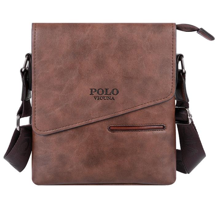 Чоловіча сумка через плече VICUNA POLO V8824 New Коричневий (SUN3323)